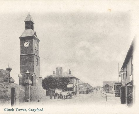 The Clock Tower, Crayford, c.1910 | Bexley Local Studies & Archive Centre