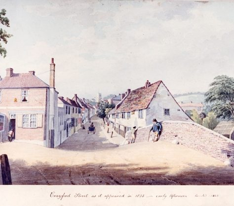 Crayford High Street, 1835 | Bexley Local Studies & Archive Centre