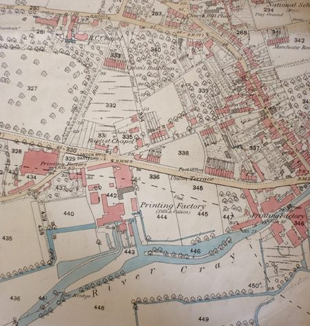Map of Crayford, 1860 | Bexley Local Studies & Archive Centre