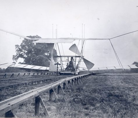 Maxim's Flying Machine at Baldwyns Park, 1894 | Bexley Local Studies & Archive Centre