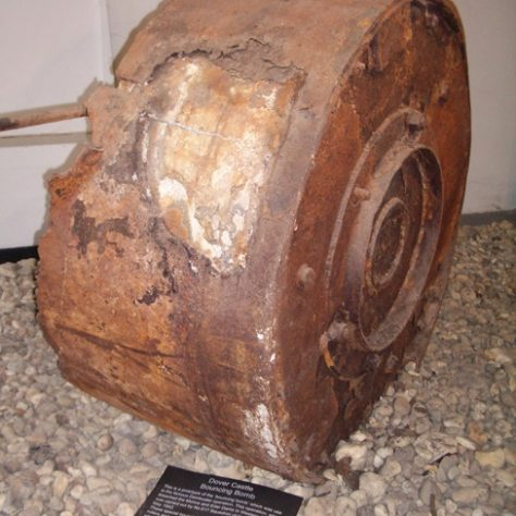 Casing of the Bouncing Bomb Tested at Reculver | Bexley Local Studies & Archive Centre