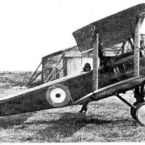 Wilfred Salmon's A6230 Sopwith Pup beside its hangar at Joyce Green. You can see the Thames flood banking to the rear | RAF Museum