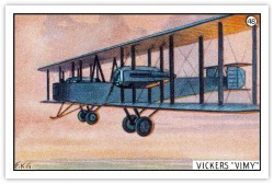 Artist's Impression of a Vickers Vimy in Flight