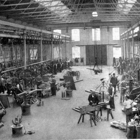 Crayford Factory. Workers construct various parts.