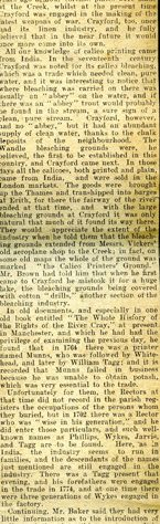 Crayford in Industry Newspaper Article, 1912.