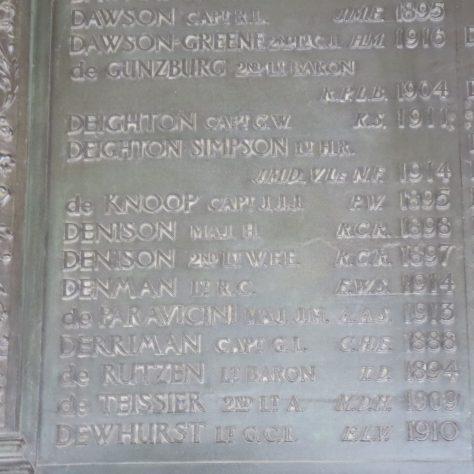 Deighton Simpson is remembered on the Eton College war memorial | Eton College
