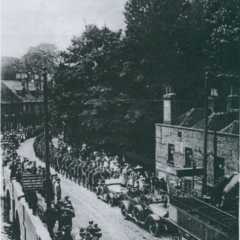 2nd Lt Wilfred Salmon's funeral procession by Holy Trinity Church Dartford 13th July 1917 | Dartford Library.