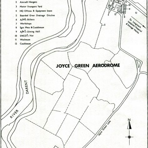 A plan showing the layout of the Joyce Green airfield in 1918 | Royal Air Force Museum