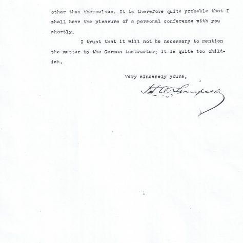 Letter from Henry Simpson to Harvard University enquiring as to his son's disappearance from college | Harvard University
