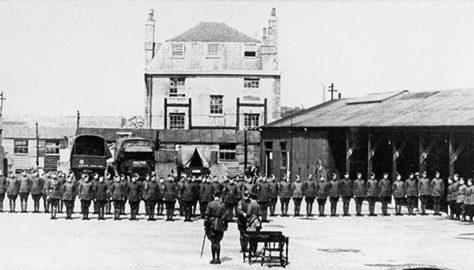 Possible medal parade at Joyce Green airfield c 1917 | Kent County Council Dartford Library