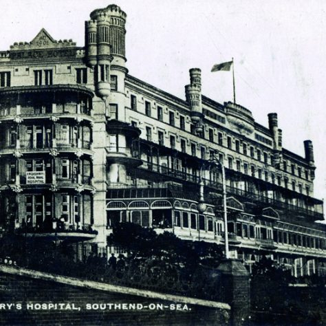 Queen Mary's Hospital, Southend-on-Sea. A large four story building.