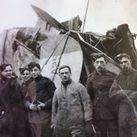 A salvage crew raises a damaged Sopwith pup from the Thames | Kent County Council Dartford Library