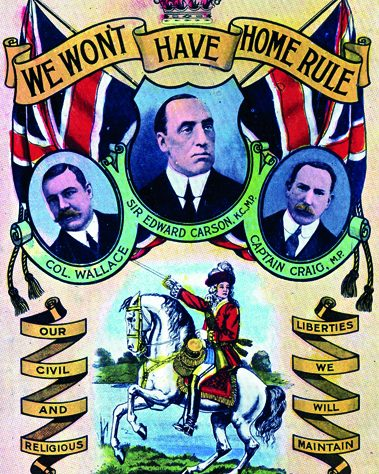 Unionist Anti Home Rule Poster.