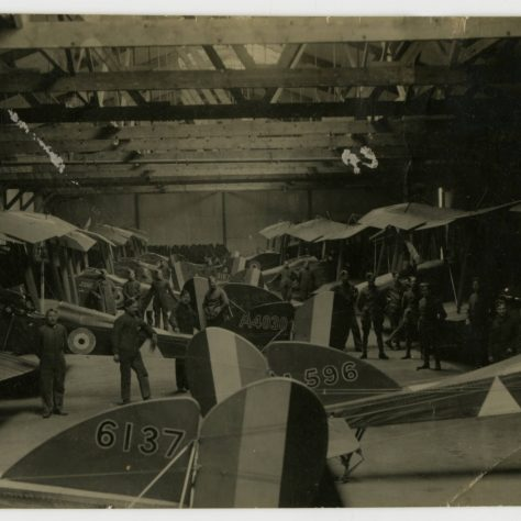 Photograph of an airplane repair shop Joyce Green airfield 1918 from Carroll Bunch s photo album | University of Missouri