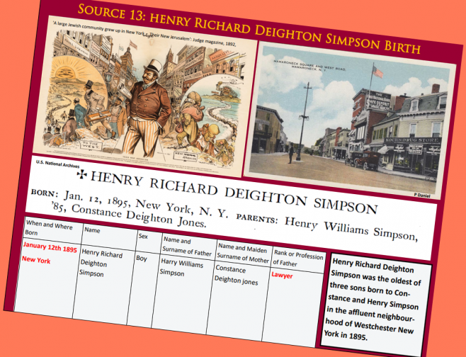 Page from 'The Story of Lieutenant Henry Richard Deighton Simpson' an education resource about Wilfred Salmon