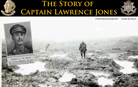 WW1 Passcehdaele: The Story of Captain Lawrence Jones